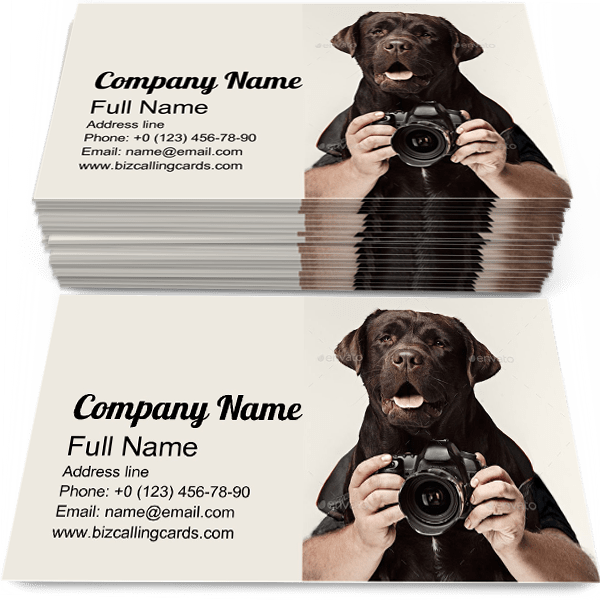 Dog Photographer Business Card Template
