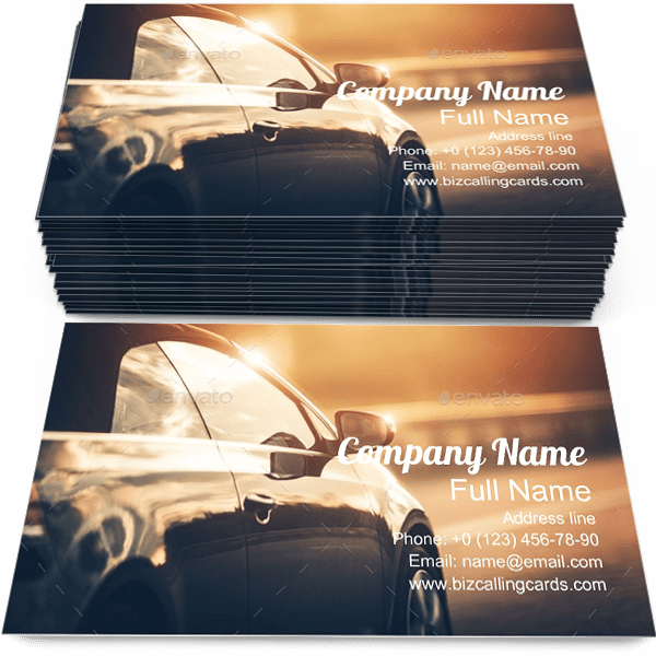Road Business Card Template