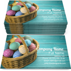 Easter Eggs in a Basket Business Card Template