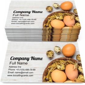 Eggs in Straw Nest Business Card Template