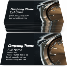 Expensive Luxury Watch Business Card Template