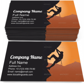 Extreme Rock Climbing Business Card Template