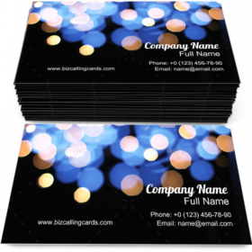 Fairy Blurry Lights Dots Business Card Template