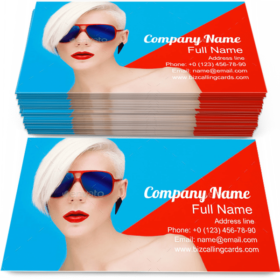 Fashion Girl Sunglasses Business Card Template
