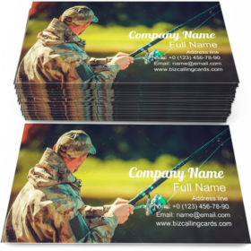 Fisherman with a Rod Business Card Template