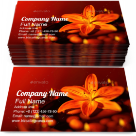 Fresh Lily Aroma Flower Business Card Template