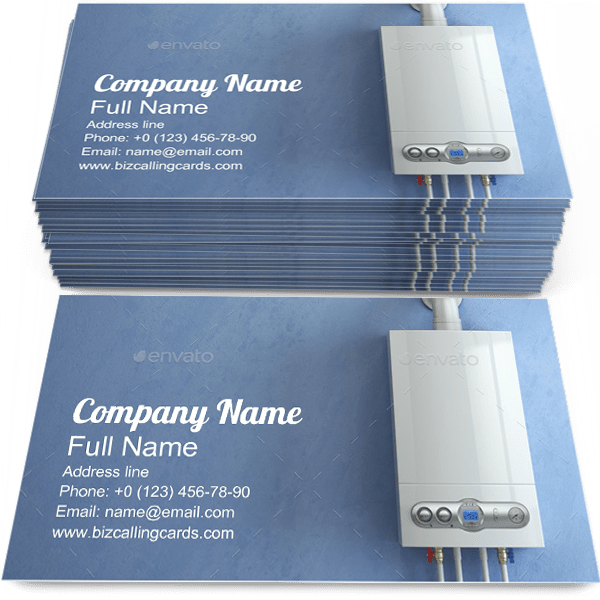 Gas Boiler Home Heating Business Card Template