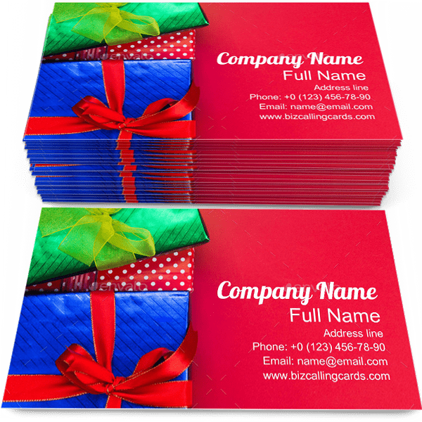 Sample of Gift Boxes business card design for advertisements marketing ideas and promote presents branding identity