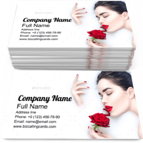 Girl taking Milk Bath Business Card Template