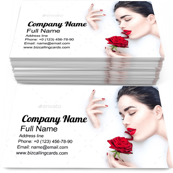 Sample of Milk Bath calling card design for advertisements marketing ideas and promote skincare branding identity