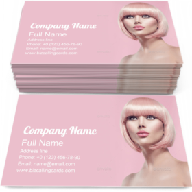 Girl with Blonde Hair Business Card Template