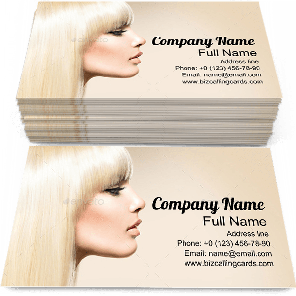 Sample of Smooth Hair business card design for advertisements marketing ideas and promote hairstyle branding identity