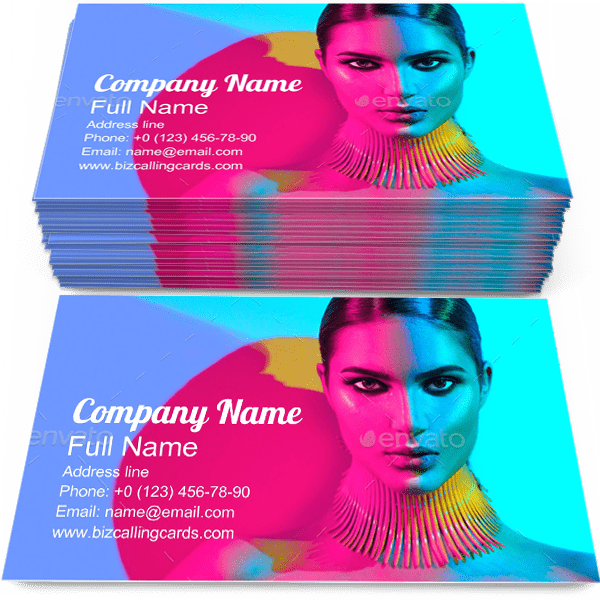 Sample of Trendy Makeup business card design for advertisements marketing ideas and promote Beauty branding identity