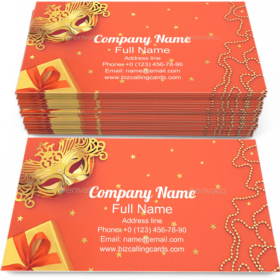 Glamour Masquerade Business Card template