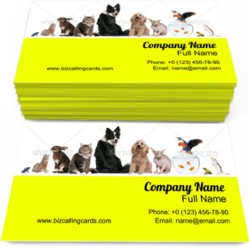 Group of Pets Sitting Business Card Template