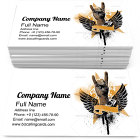 Grunge Heraldic Emblem Business Card Template