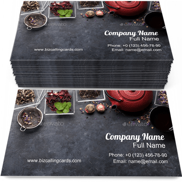 Herbal and Fruit Dry Teas Business Card Template