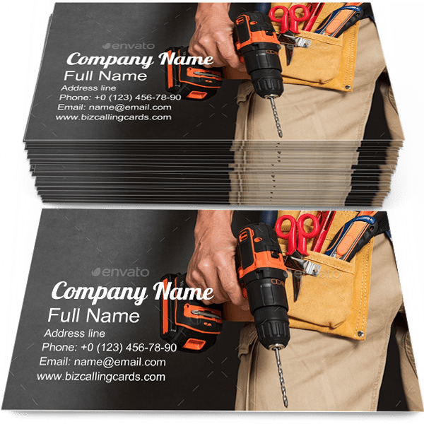 Sample of Tools business card design for advertisements marketing ideas and promote Construction branding identity