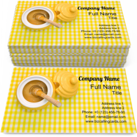 Honey with Dipper Business Card Template
