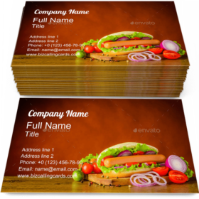 Hot Dog with Vegetables Business Card Template