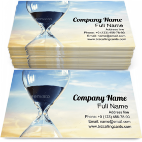 Hourglass at Sunset Business Card Template