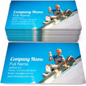 House Roof Construction Business Card Template