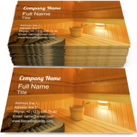 House with Sauna Business Card Template
