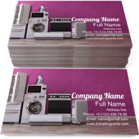 Household Appliancess Business Card Template