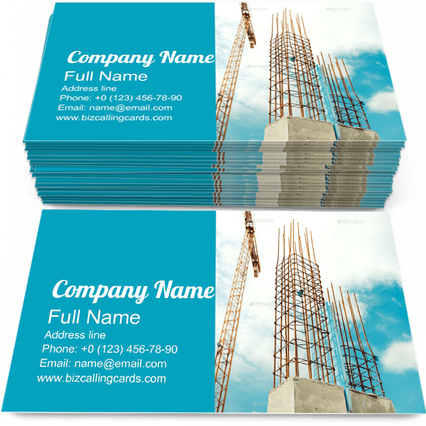 Sample of Concrete Walls business card design for advertisements marketing ideas and promote Installing branding identity