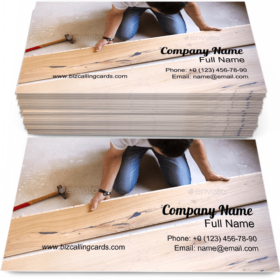 Installing Wooden Floor Business Card Template