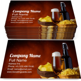 Junk-Food and Beer Business Card Template