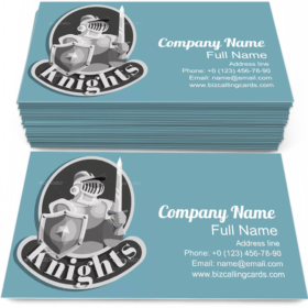 Knight Metal Emblem Business Card Template