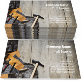 Leather Crafting Tools Business Card Template
