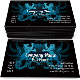 Lion Crest Design Business Card Template
