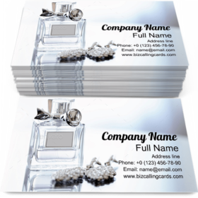 Luxury Perfume Bottle Business Card Template