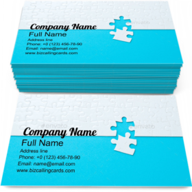 Made from Jigsaw Puzzle Business Card Template