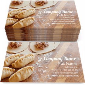 Making Dumpling Manti Business Card Template