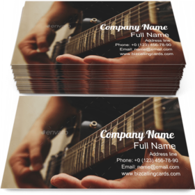 Man Playing on Guitar Business Card Template