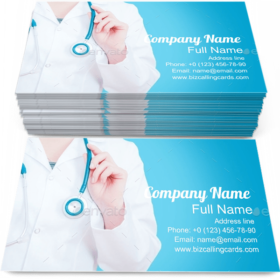 Medical Female Doctor Business Card template