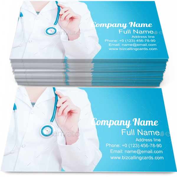Sample of Medical Female business card design for advertisements marketing ideas and promote Doctor branding identity