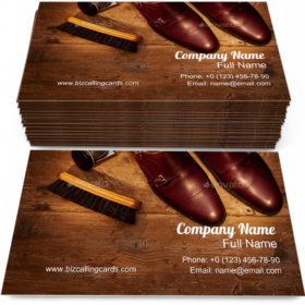 Men Shoes Accessories Business Card Template