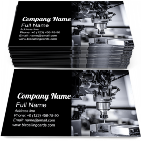 Metalworking CNC Tech Business Card Template