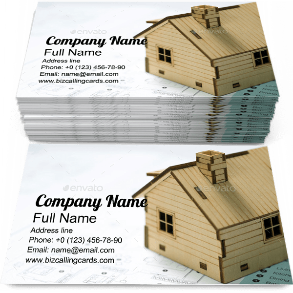 Sample of House business card design for advertisements marketing ideas and promote building branding identity