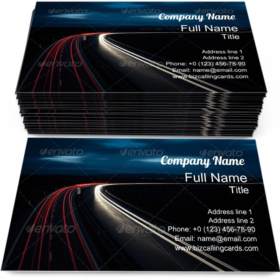 Moving on a Highway Business Card Template