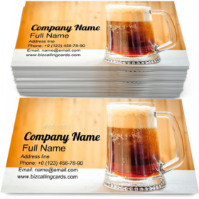 Mug with Dark Beer Business Card Template