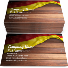 National Germany Flag Business Card Template