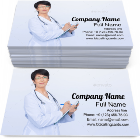Nurse Writing on Note Business Card Template