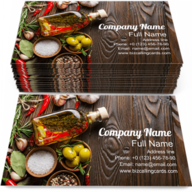 Oils Condiments & Spice Business Card Template