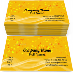 Orange Abstract Pattern Business Card Template