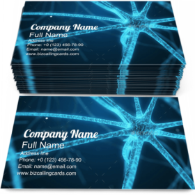 Organic Nerve Bio Cell Business Card Template